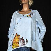 """Одежда ручной работы. Ярмарка Мастеров - ручная работа Блуза """" Котовасия"""". Handmade."""