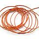 Шнур вощеный оранжевый (100 %  хлопок) для украшений в ассортименте. Используется в скрапбукинге, для изготовления браслетов (в т.ч. шамбала), для ожерелий, бус и т.п