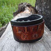 Украшения handmade. Livemaster - original item Leather bracelet Life is good. Handmade.