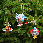 Подарки к праздникам handmade. Livemaster - original item Set textile Christmas decorations