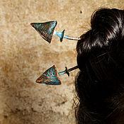 Украшения ручной работы. Ярмарка Мастеров - ручная работа Шпильки медные для волос Magic mushrooms. Handmade.