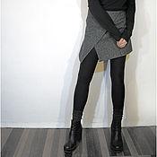 Одежда ручной работы. Ярмарка Мастеров - ручная работа юбка на запахе №1. Handmade.