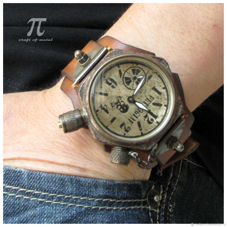 Механические мужские часы с подсветкой настольные