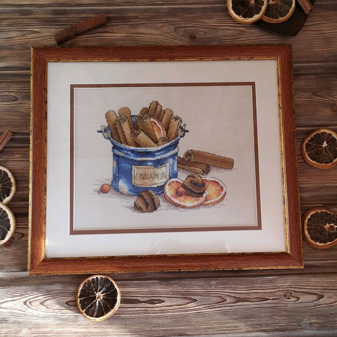 The picture in the kitchen with the aroma of chocolate, cross-stitch, Pictures, Chelyabinsk,  Фото №1