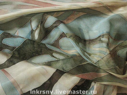 """Шарфы и шарфики ручной работы. Ярмарка Мастеров - ручная работа. Купить Шарф """"Нежность"""". Handmade. Шелковый шарф, ветка"""