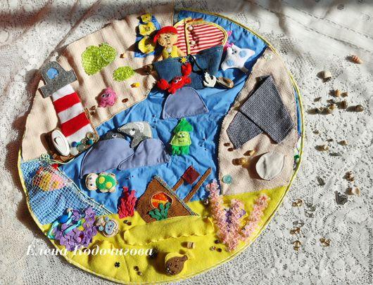 """Развивающие игрушки ручной работы. Ярмарка Мастеров - ручная работа. Купить Развивающий коврик """"Морское путешествие"""". Handmade. Комбинированный"""