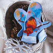 handmade. Livemaster - original item Felted mittens before the winter comes. Handmade.
