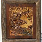 """Картины и панно ручной работы. Ярмарка Мастеров - ручная работа Резная картина """"Древень"""". Handmade."""