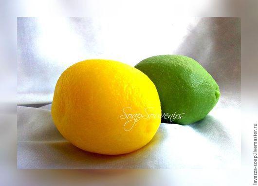 Мыло ручной работы. Ярмарка Мастеров - ручная работа. Купить Мыло Лимон-Лайм. Handmade. Желтый, лимоны, лайм, фруктовница