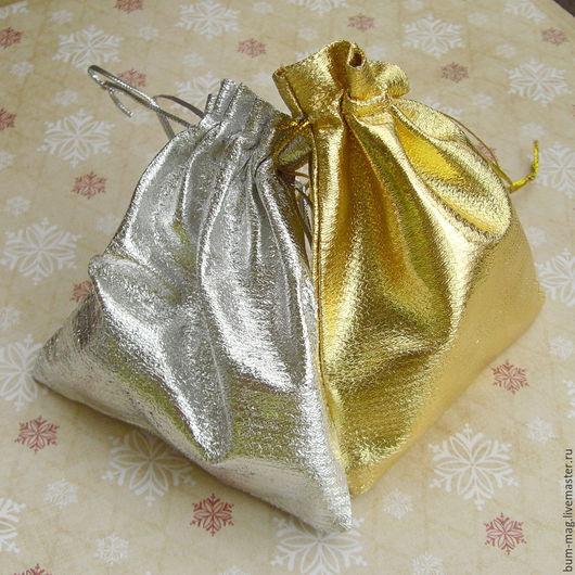 Упаковка ручной работы. Ярмарка Мастеров - ручная работа. Купить Мешочек из парчи (золото, серебро). Handmade. Упаковка, мешочки