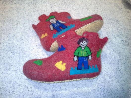 """Обувь ручной работы. Ярмарка Мастеров - ручная работа. Купить """"Лего"""" Детские чуни. Handmade. Детские валяные тапки"""