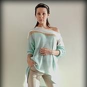 """Одежда ручной работы. Ярмарка Мастеров - ручная работа пуловер """"Мятная прохлада"""". Handmade."""