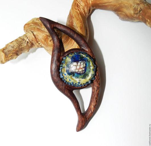 """Кулоны, подвески ручной работы. Ярмарка Мастеров - ручная работа. Купить Кулон - колье из дерева """"Гайана"""" (меранти). Handmade. меранти"""