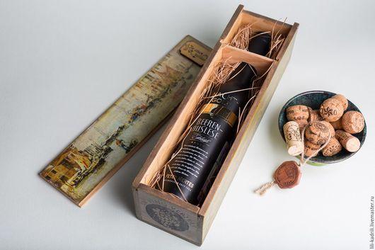 Персональные подарки ручной работы. Ярмарка Мастеров - ручная работа. Купить Винный короб Венеция. Handmade. Вино, подарок женщине