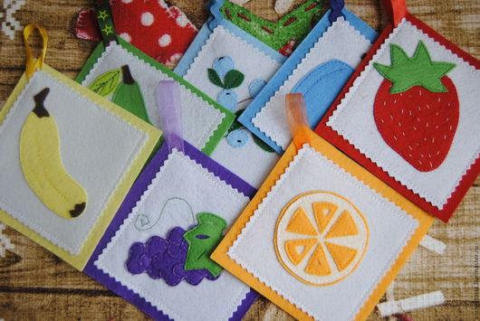 Развивающие игрушки ручной работы. Ярмарка Мастеров - ручная работа. Купить Радужные карточки. Handmade. Комбинированный, ребенок, ленты из органзы