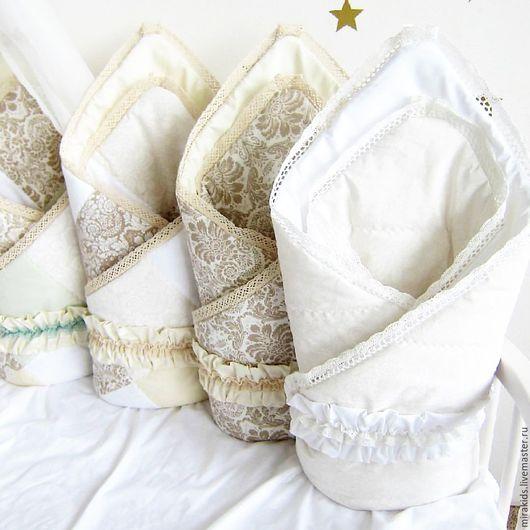 Для новорожденных, ручной работы. Ярмарка Мастеров - ручная работа. Купить Лоскутное одеяло,конверт на выписку. Handmade. Комбинированный