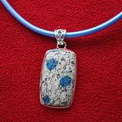 Украшения handmade. Livemaster - original item THREE WISHES-silver pendant with unique azurite. Handmade.
