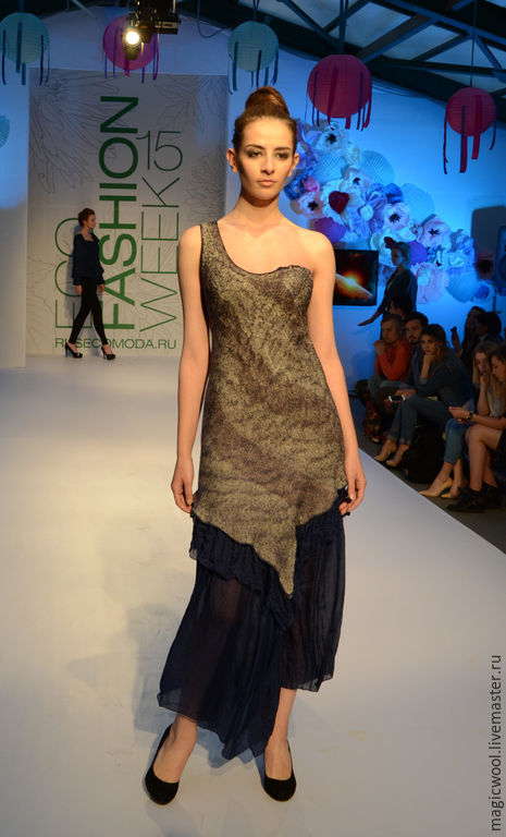 Платья ручной работы. Ярмарка Мастеров - ручная работа. Купить Вечернее платье с ассиметричным кроем. Handmade. Красивое платье