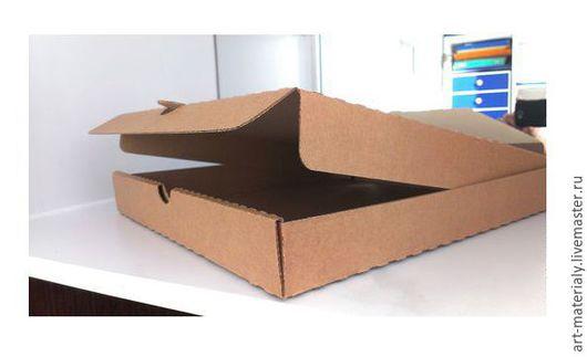 Упаковка ручной работы. Ярмарка Мастеров - ручная работа. Купить Коробка 33Х33Х4 см микрогофрокартон. Handmade. Коричневый, материалы для творчества