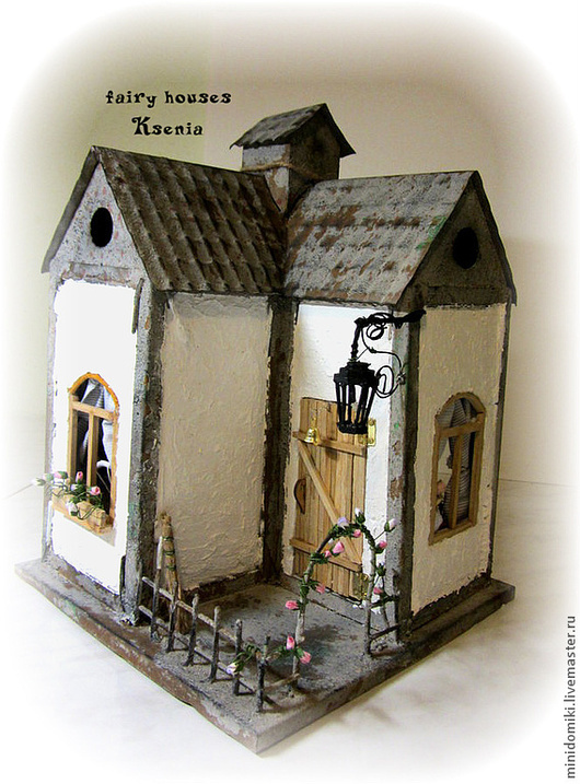 Кукольный дом ручной работы. Ярмарка Мастеров - ручная работа. Купить Домик для феечки. Handmade. Кукольный домик, подсвечник, бумага