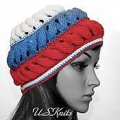 Аксессуары handmade. Livemaster - original item Knitted beret colors of Russia. Handmade.
