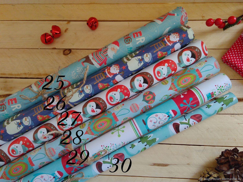 """Бумага для упаковки подарка """"Новогодняя"""", Упаковка, Бугуруслан, Фото №1"""