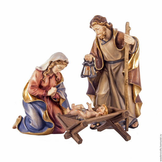 Персональные подарки ручной работы. Ярмарка Мастеров - ручная работа. Купить Святое семейство с младенцем Иисусом. Handmade. Комбинированный, дерево
