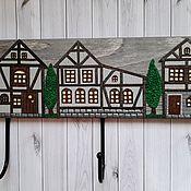 Для дома и интерьера handmade. Livemaster - original item Housekeeper-hanger Alpine Village. Wall-mounted housekeeper.Option 3. Handmade.