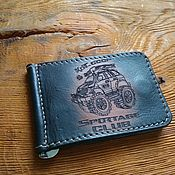 Сумки и аксессуары handmade. Livemaster - original item Money clip made of genuine leather. Handmade.