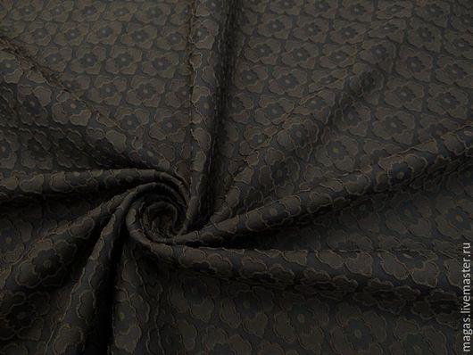 Шитье ручной работы. Ярмарка Мастеров - ручная работа. Купить ЖАККАРД КОСТЮМНО-ПЛАТЕЛЬНЫЙ. Handmade. Черный, коричневый, полиэстер