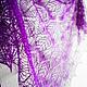 Шали, палантины ручной работы. Ярмарка Мастеров - ручная работа. Купить Вязаная ажурная шаль из мериносовой шерсти пурпурного цвета. Handmade.