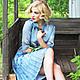"""Платья ручной работы. Ярмарка Мастеров - ручная работа. Купить Платье """"Серо-голубое"""". Handmade. Платье, серый, Платье нарядное"""