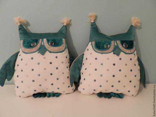 """Детская ручной работы. Ярмарка Мастеров - ручная работа. Купить Декоративные подушки """"Мы близнецы!!"""". Handmade. Бирюзовый, текстильная игрушка"""