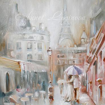 Картины и панно ручной работы. Ярмарка Мастеров - ручная работа Париж в дожде. Handmade.