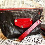 Сумки и аксессуары handmade. Livemaster - original item Bag cosmetic bag of genuine Buffalo leather Diablo. Handmade.