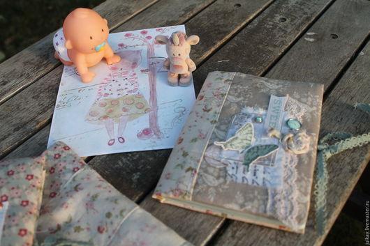 Подарки для новорожденных, ручной работы. Ярмарка Мастеров - ручная работа. Купить Блокнотик для смешных фраз малыша. Handmade. Разноцветный, скрапукрашения