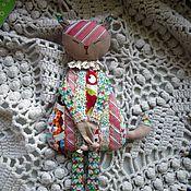 Куклы и игрушки ручной работы. Ярмарка Мастеров - ручная работа Грелка с вишневыми косточками.Лоскутная Лисичка.. Handmade.
