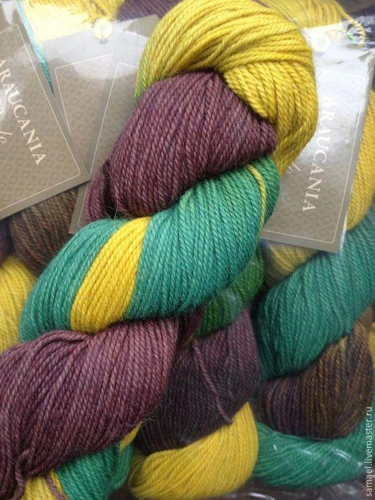 Вязание ручной работы. Ярмарка Мастеров - ручная работа. Купить Araucania Puelo Shade 1967. Handmade. Разноцветный, пряжа лама