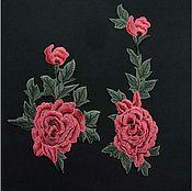 """Материалы для творчества ручной работы. Ярмарка Мастеров - ручная работа Пара 3D аппликаций """"Розы с бутоном"""". Handmade."""