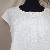 Одежда handmade. Livemaster - original item Women`s blouse, made of cotton,tunic with decorated blouse boho image. Handmade.