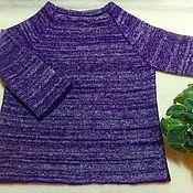 Одежда ручной работы. Ярмарка Мастеров - ручная работа Короткий свитер «Шелковые чернила». Handmade.