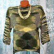 """Одежда ручной работы. Ярмарка Мастеров - ручная работа Пуловер женский """"Модный штрих"""" /Авт.раб.. Handmade."""