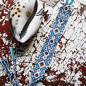 """Украшения ручной работы. Ярмарка Мастеров - ручная работа Фенечка """"Морская волна"""". Handmade."""