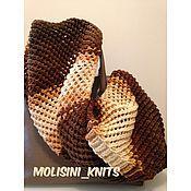 Аксессуары ручной работы. Ярмарка Мастеров - ручная работа шарф снуд Капучино. Handmade.