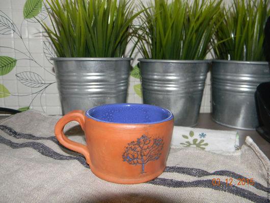 Кружки и чашки ручной работы. Ярмарка Мастеров - ручная работа. Купить чашка Дерево. Handmade. Комбинированный, подарок, посуда из глины