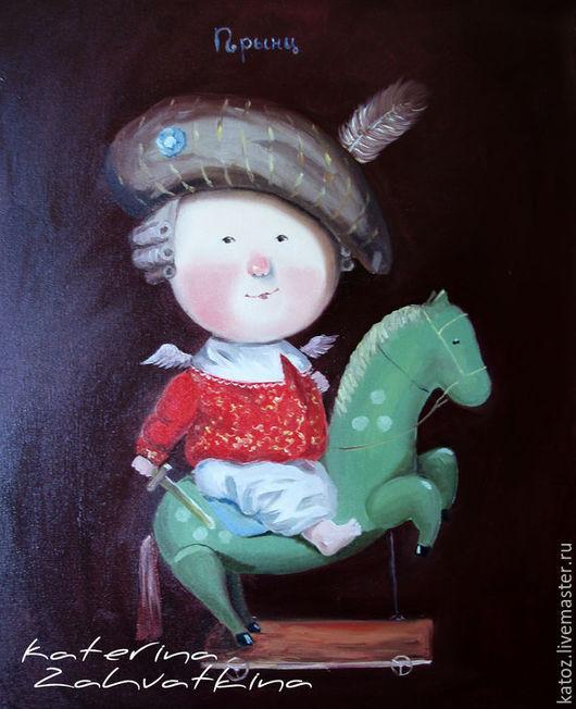 """Репродукции ручной работы. Ярмарка Мастеров - ручная работа. Купить """"Принц"""", копия картины. Handmade. Разноцветный, картина в подарок, захваткина"""