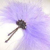 Украшения handmade. Livemaster - original item favorite fan. lilac. brooch.. Handmade.