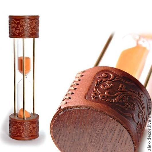 """Часы для дома ручной работы. Ярмарка Мастеров - ручная работа. Купить Песочные часы """"Leather"""". Handmade. Часы, песочные часы"""