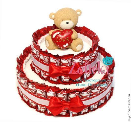 Подарки для влюбленных ручной работы. Ярмарка Мастеров - ручная работа. Купить ТОРТ из KitKat  девушке подарок ребёнку на день рождения подруге другу. Handmade.