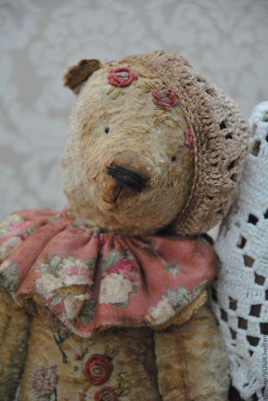 Мишки Тедди ручной работы. Ярмарка Мастеров - ручная работа. Купить Бернард. Handmade. Оливковый, рококо, для коллекционера, винтажный плюш